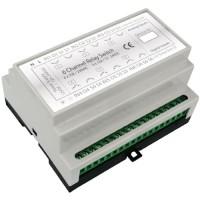 Haseman Z-Wave DIN Rail 6x2kW Universal Switch module, 4 Inputs (gen. use)