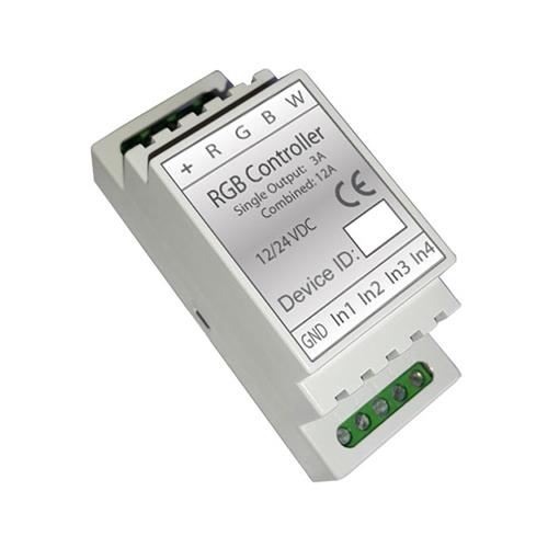 Z Wave Din Rail Rgbw Pwm Led Controller Insert Fibaro